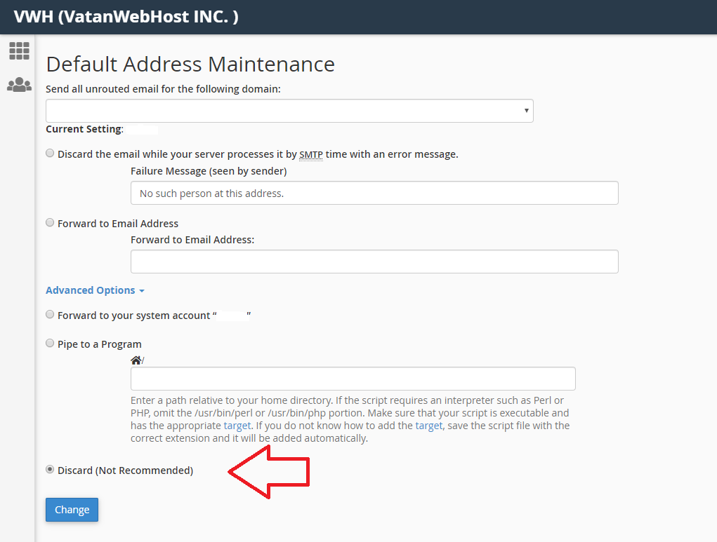 حل مشکل فروارد ایمیل پس از حذف ایمیل در CPanel